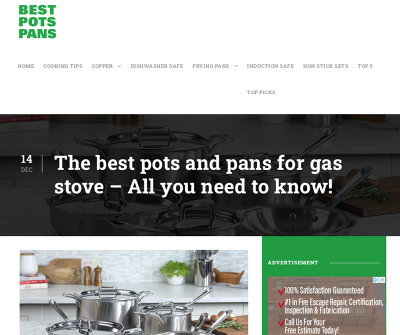 Best Pots Pans | Gas Stove