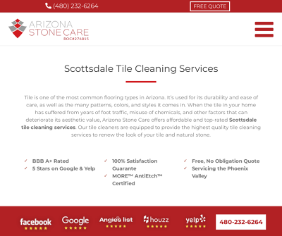 Arizona Stone Care | Scottsdale Tile and Grout Cleaning Company