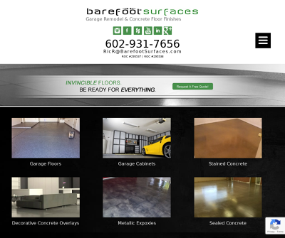 Barefoot Surfaces | Garage Remodel & Concrete Floor Finishes