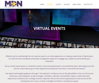 MDN Productions | Virtual Events
