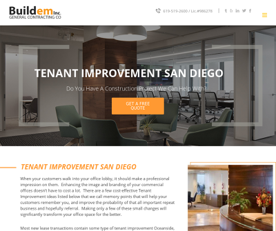 Buildem Inc. | General Contracting Company | Tenant Improvements San Diego