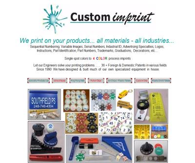 Custom Imprint pad printing - artwork, film, imprint dies, tooling construction and PMS® color matching
