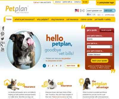 Petplan USA Pet Health Insurance for Cats & Dogs