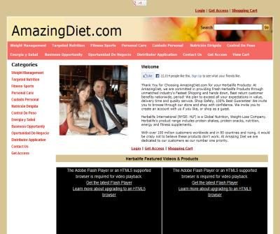 ! 877 946 9300 AmazingDiet.com Herbalife Distributor Herbal Life Products