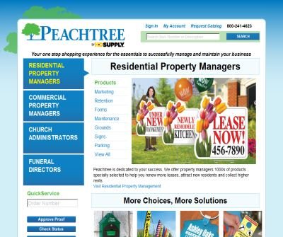 Peachtree Business Products – Property Management Supplies