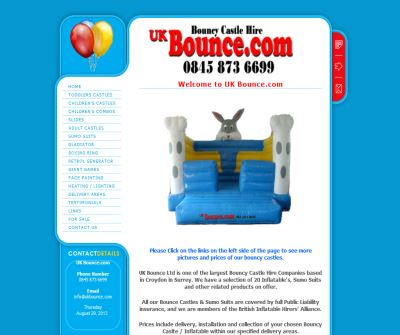 Bounce Castle Hire UK Bounce.com