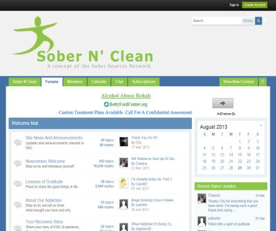 Sober N Clean:  Alcoholism And Addiction Community
