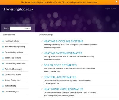 The Heating Shop Discount Central Heating Boilers & Plumbing Supplies