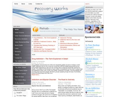 Recovery Works:  Alcoholism And Addiction Community