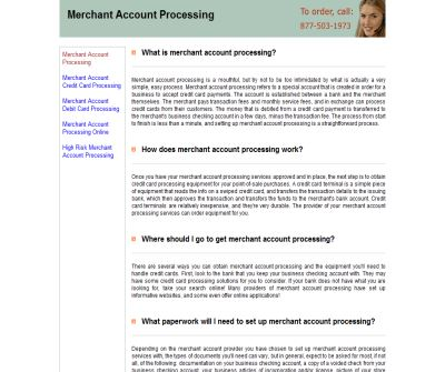 Merchant Account Processing