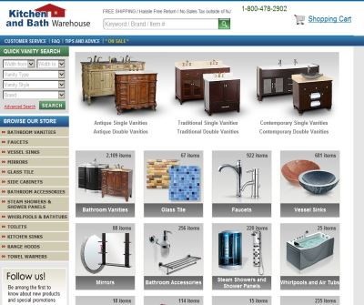 Bathroom Vanities and Accessories at KitchenAndBathWarehouse.com