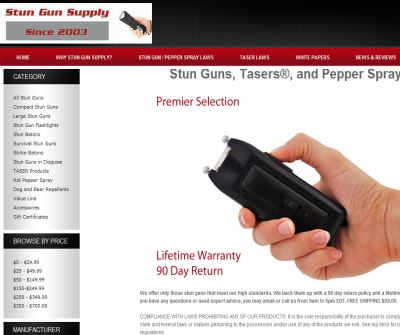 Stun Gun Supply - Pepper Spray | Tasers