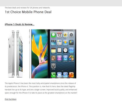 Compare Over 150,000+ Mobile Phone Deals all in one place! | Visit 1stChoice4Mobiles.co.uk
