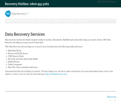 abc Data Recovery Ltd Disaster recovery specialists of Raid arrays, failed hard drives and usb memory sticks an external drives including san and nas devices.