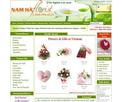NamHaFlorist - flower and gift to Vietnam