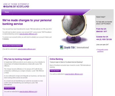 Bank of Scotland International - Offshore and Overseas Banking