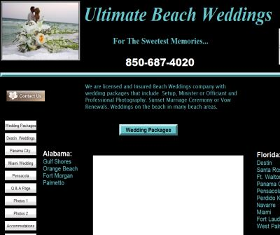 Florida Destin Beach Weddings