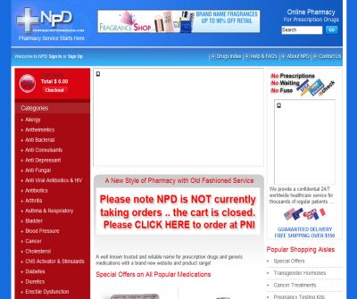 No Prescription Drugs and Medications - NPD Online Pharmacy