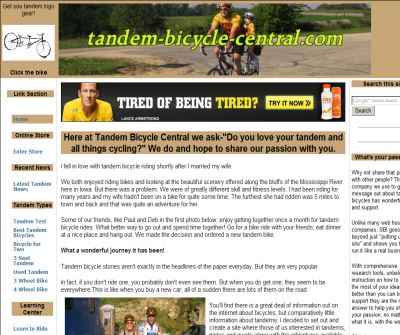 Tandem Bicycle Central - The online resource