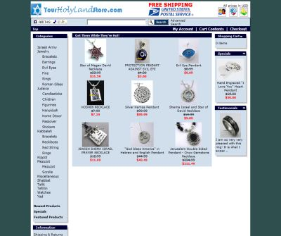 YourHolyLandStore - Jewish and Kabbalah Jewelry