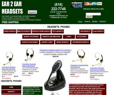 Telephone Headsets, Wireless Phone Headsets, Cellular Phone Headsets