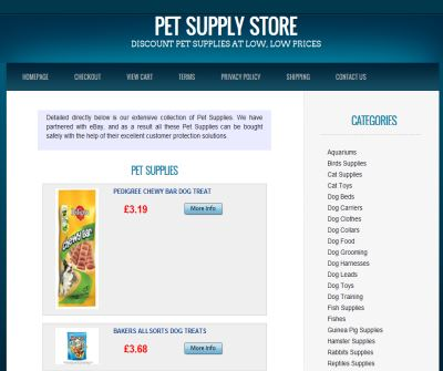KC Online Pet Store - Dogs Cats and other furry animals are welcome