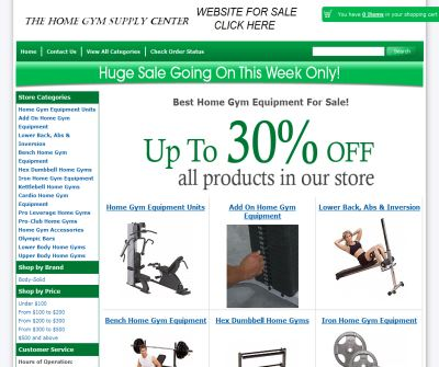 Home Gym Supplies at 20% Discount