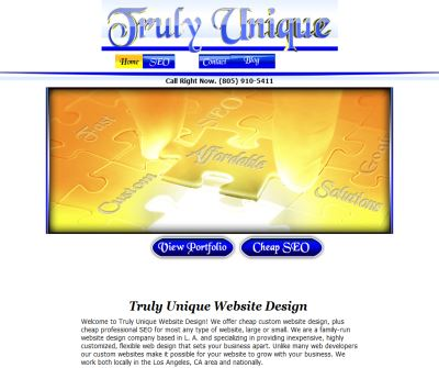 Cheap Website Design, Cheap SEO - Truly Unique