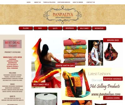 wholesale catalog of bedspreads,cushion covers,hand bags,curtains,skirts,quilts,etc.