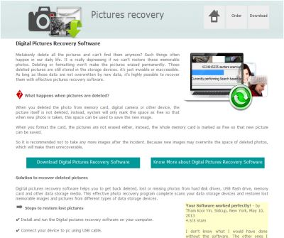 recover digital camera pictures