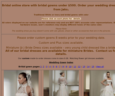 Welcome Brides to our color your wedding shopping experience!