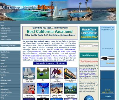 Disney Vacations CA - California Vacations - All Inclusive Resorts - Map of California
