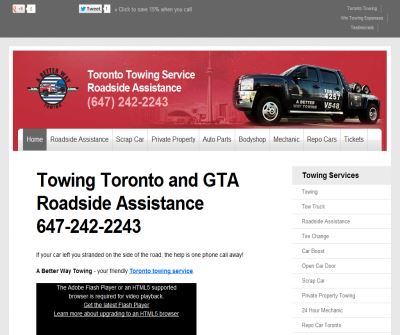 Toronto towing | tow truck service, accident towing Toronto.