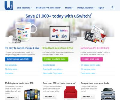 uSwitch.com - compare and switch utilities, find the best credit cards, loans, mortgages and more