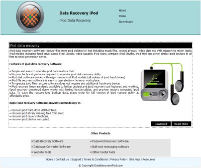 recover data ipod