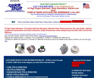 high Output Alternators by National Quick Start Sales
