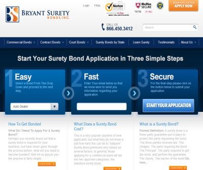 Surety Bond - Bryant Surety Bonds - A Surety Bonding Company