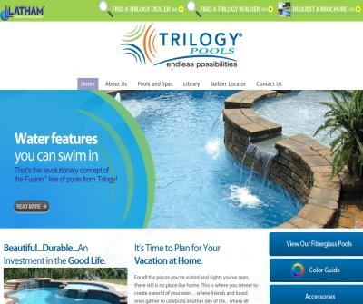 In Ground Fiberglass Swimming Pools and Spas by Trilogy