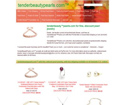 Tender Beauty Pearls