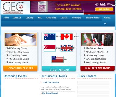 COACHING FOR GRE / GMAT / SAT / TOEFL / IELTS/ CET / CAT / SNAP / NMAT Counseling for USA and UK