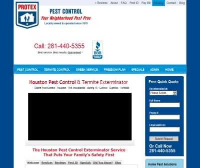 Pest Control Extermination Houston Spring The Woodlands TX