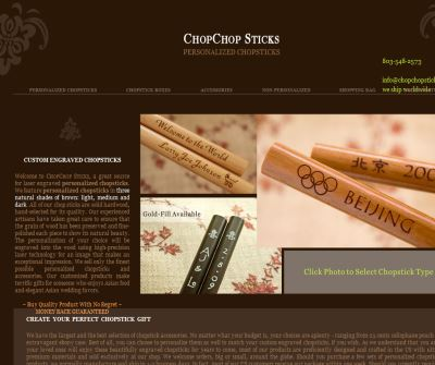 Personalized Chopsticks, Custom Engraved Chopsticks