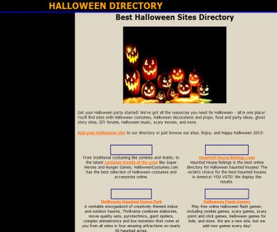 Best Halloween Sites Directory