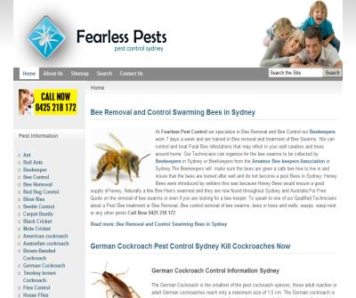 fearless pest control and bee swarm removal