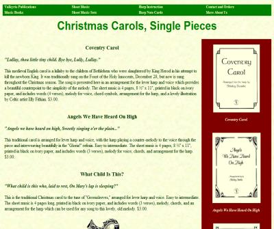Christmas Carols for Harp and Voice