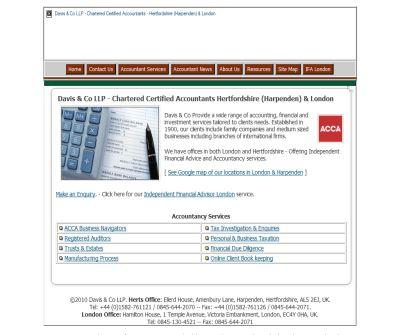 Davis & Co LLP - Chartered Certified Accountants London & Hertfordshire (Harpenden)