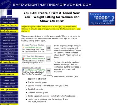 Safe Weight Lifting for Women