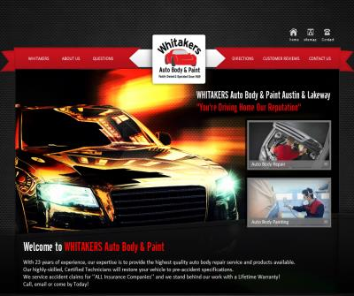 Auto Body Repair & Auto Painting,  Collision Repair, Dent Repair and Hail Damage Repair | WHITAKERS Auto Body & Paint - Austin and Lakeway Texas