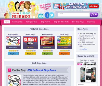 Online Bingo Friends - Play Free Bingo