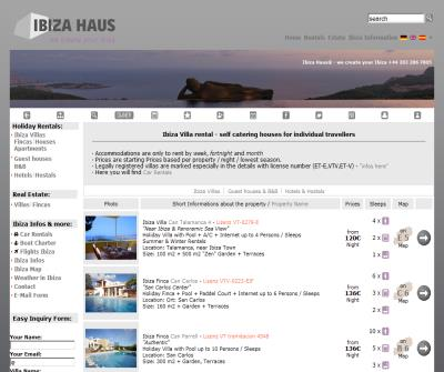 Ibiza Villas ~ Ibiza Houses ~ Ibiza Fincas ~ Apartments; Accommodations by Ibiza Haus